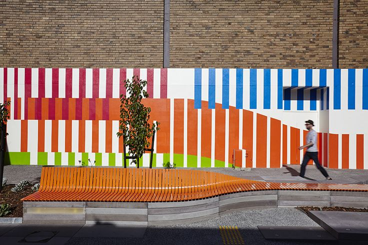 Landscape Architectural works by City of Moreland & Wayfinding by Aspect Studios.