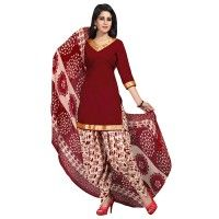 Amazing Maroon Crepe Suit With Printed Dupatta for just $9. http://bit.ly/29bMhBV #crepesalwarsuit