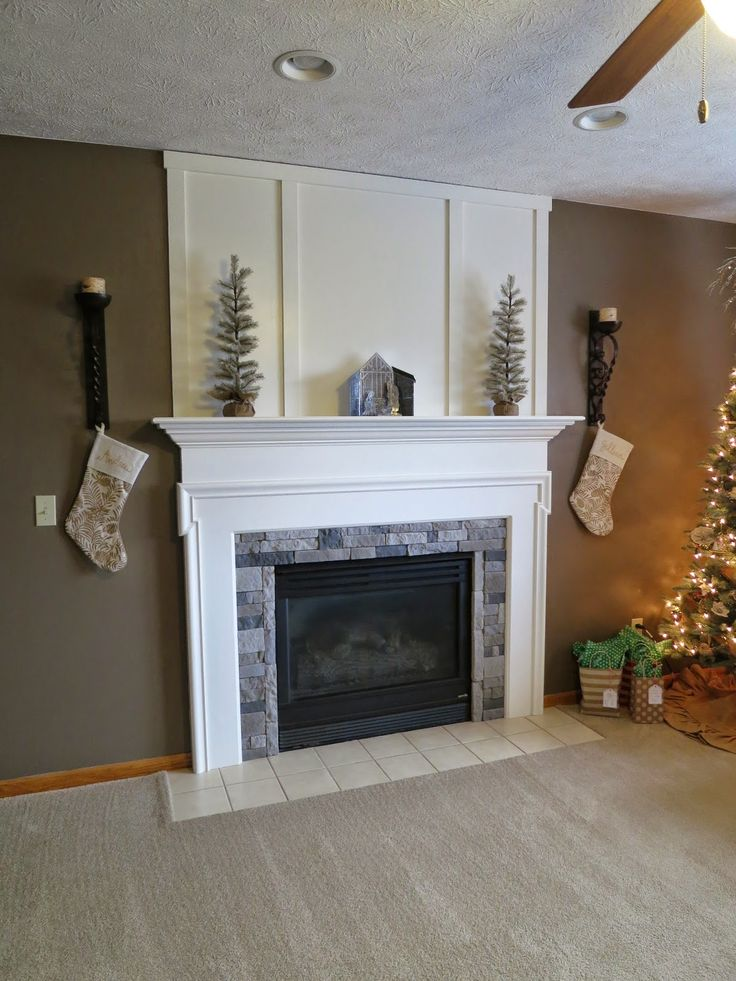 Fireplace facelift // a little paint & some AirStone goes a long way #operationoldelm