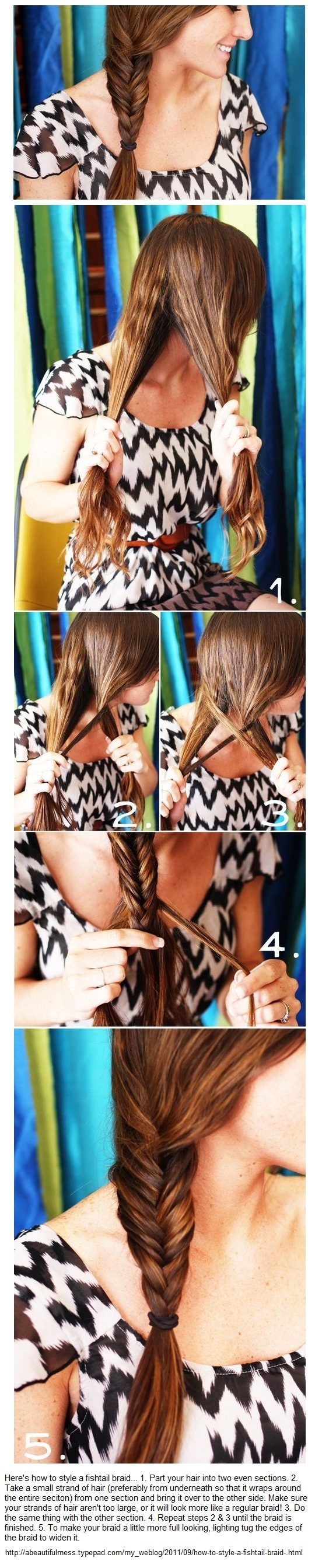 for Allie   Looks like a side, fish braid. Easy!Braids How To, Messy Fishtail Braids, Fish Braids, Braid Tutorials, Side Fishtail, Hair Growing, Bones Braids, Fish Bones, Braids Hair