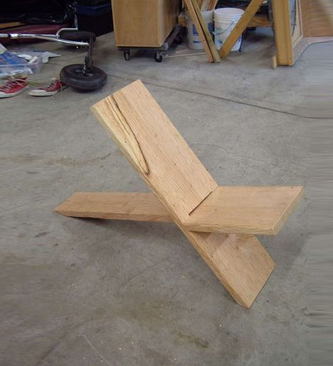 2 Boards 1 Seat Simple Diy Two Plank Chair Construction