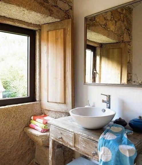 Mais de 1000 ideias sobre casas de banho r sticas no - Casas rusticas pequenas ...