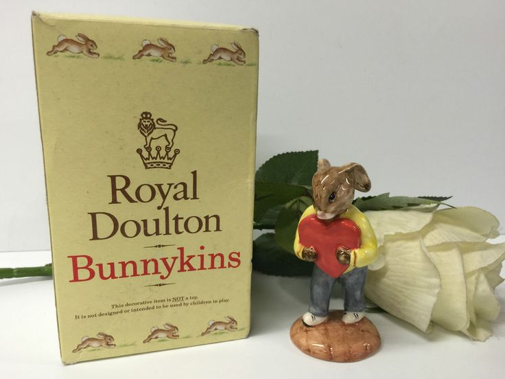BEAUTIFUL BOXED  SWEETHEART   BUNNYKINS BY ROYAL DOULTON 1992 EDITION DB130