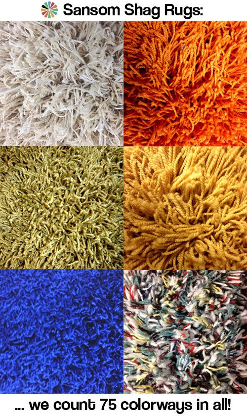 75 colors of shag rugs and carpets from Sansom Shag Rugs - oh so groovy, baby! - Retro Renovation