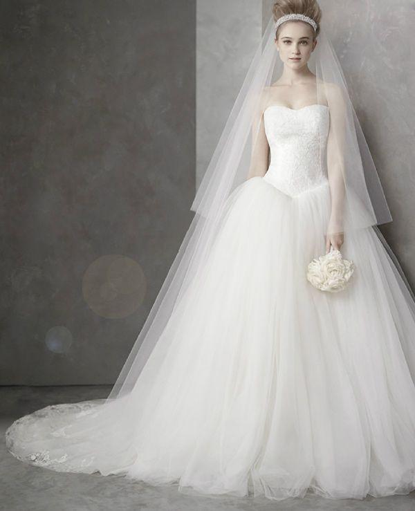 Elegant princess dress White by Vera Wang Wedding Dresses at Davids Bridal