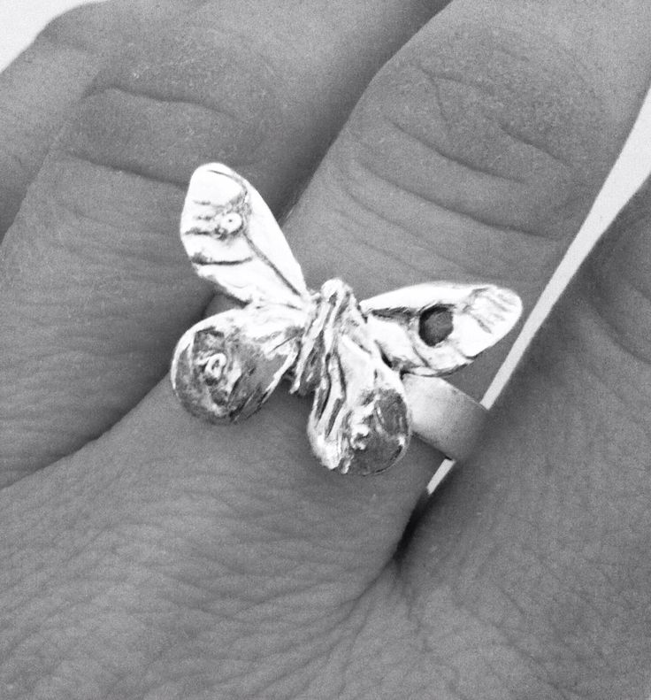 Butterly ring in 999/925 Silver by Angelart
