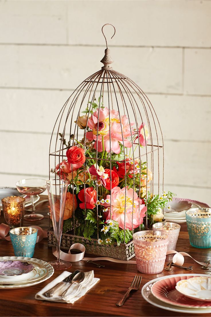93 Best Bird Cages Images On Pinterest Floral Arrangements Flower