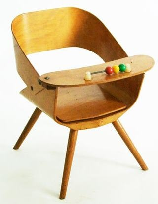 What a cool vintage children's chair. i want this for logan!!!!!!