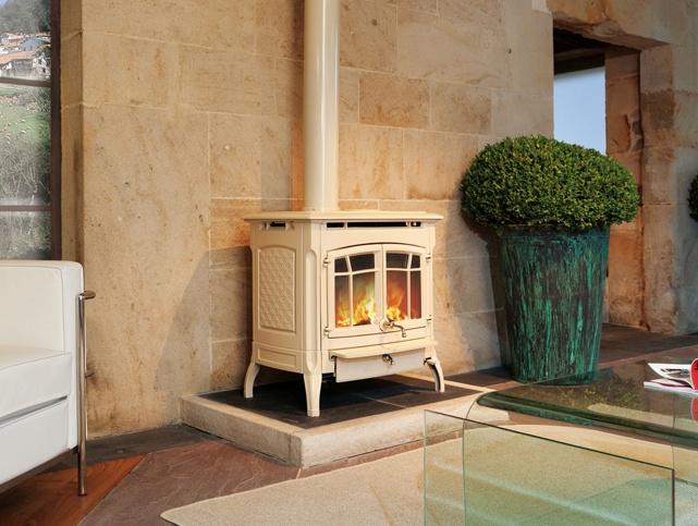 Hergom estufas hogares y chimeneas de hierro fundido for Chimenea hierro fundido