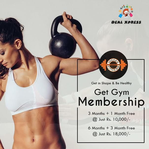 A golden chance to stay fit is here! Get #JackedFitness gym membership deals only with #DealXpress. Stay fit with us and call @ 84278-22000, 84278-55000