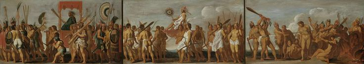 The Treatment of Prisoners of War by the Tupinamba Indians, in three scenes, Anonymous, c. 1630