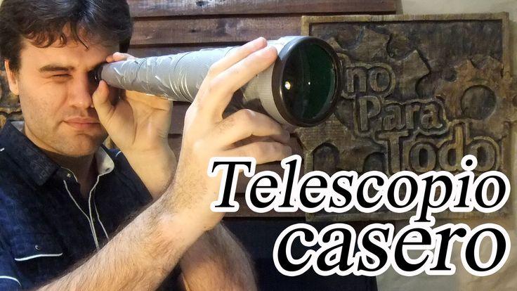 Como hacer un catalejo o largavista casero (Telescopio)