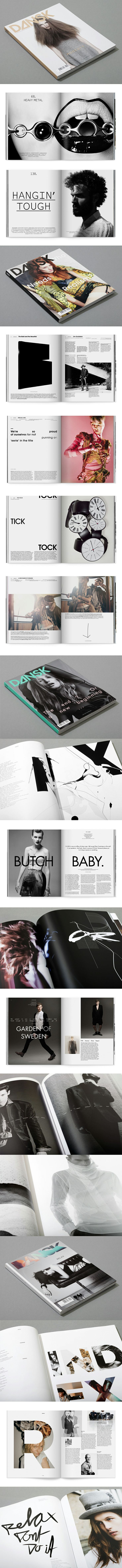 Dansk is a fashion magazine published biannually by Style Counsel and distributed in 30 countries worldwide. Art direction and illustration in cooperation with Michael Mandrup/Applied Projects  http://cargocollective.com/applied/dansk-magazine