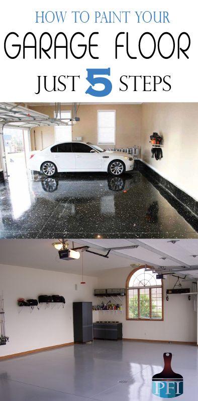 Make your garage floor beautiful in 5 steps!