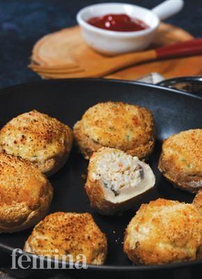 Jamur Isi Seafood dan Keju