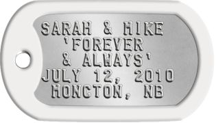 Army Wedding Favors | ... name and the details of your wedding. Bulk discounts are available