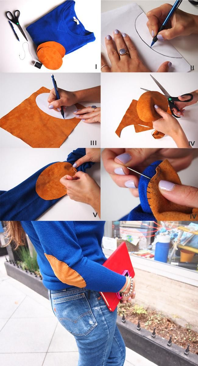 ==>DIY Elbow Patches DIY Elbow Patch Sweater