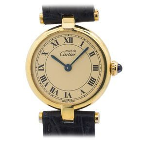 Cartier Lady's Vermeil Vendome Tank Must de Cartier Wristwatch | From a unique collection of vintage wrist watches at https://www.1stdibs.com/jewelry/watches/wrist-watches/