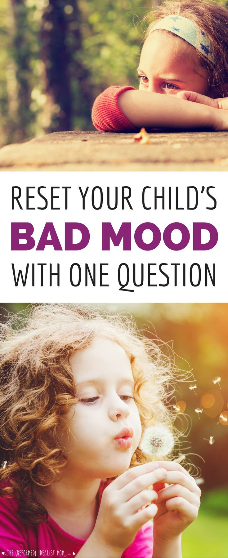One simple question that will RESET your kid's bad mood! Teach your tween or preteen this phrase NOW before you hit the moody teenage years. *Love this practical parenting tip!