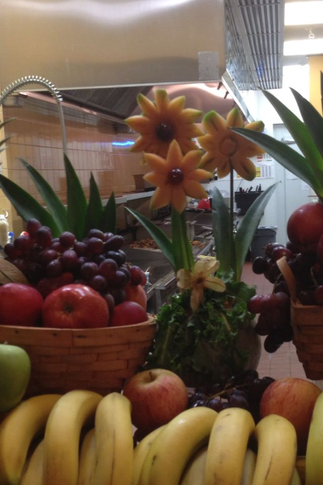 Fruit carving- flowers.
