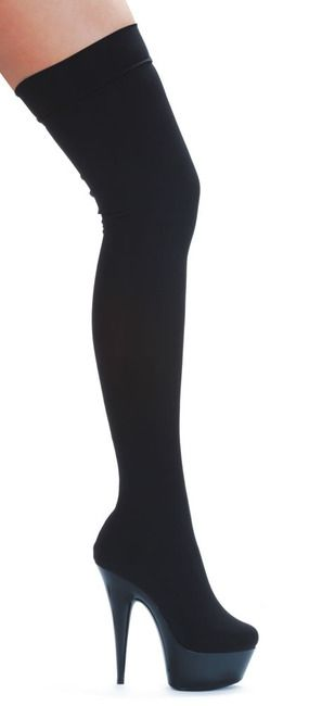609-Ski, 6 Inch Heel Thigh High Stretch Lycra Boot * 609-Ski sz 5-10 * Made by ELLIE Shoes