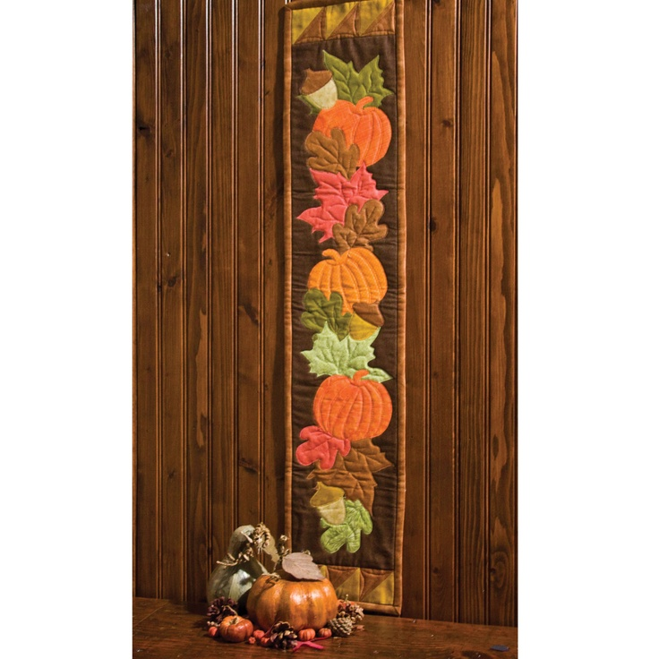 GO! Fall Frolic Skinny Wall Hanging - http://www.accuquilt.com/patterns/project-ideas/go-projects/applique-quilts/go-fall-frolic-skinny-wall-hanging.html