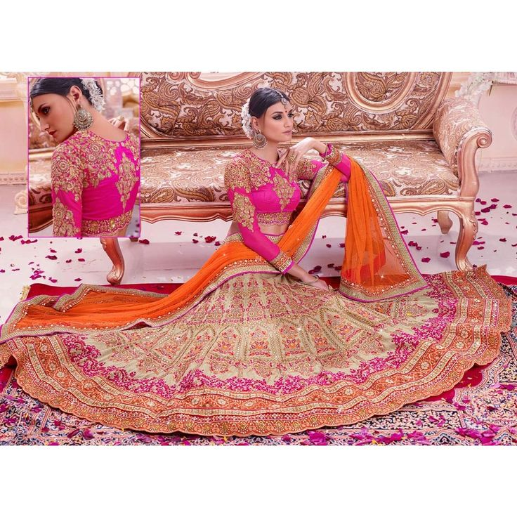 Captivating Beige Art Silk Designer #Lehenga Choli- $277.45