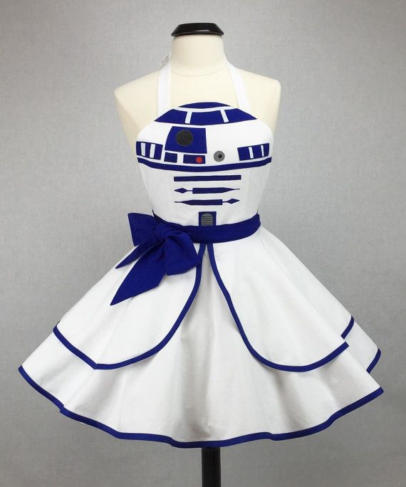 Star Wars inspiré la main R2-D2 tablier - Full Circle jupe Pin Up Cosplay Costume                                                                                                                                                                                 Plus