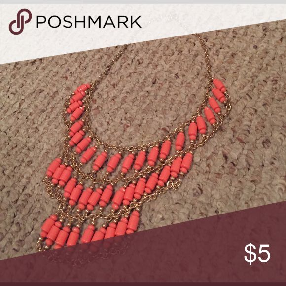 Coral statement necklace Cute coral statement necklace from Charlotte Russe! Worn once :) Charlotte Russe Jewelry Necklaces