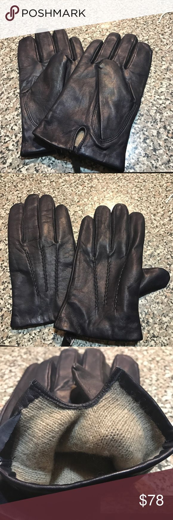 Nappa Sheepskin Gloves Genuine leather gloves. Really warm and never been worn before! These are BRAND NEW. Amazing for winter!!!! Gant Accessories Gloves & Mittens