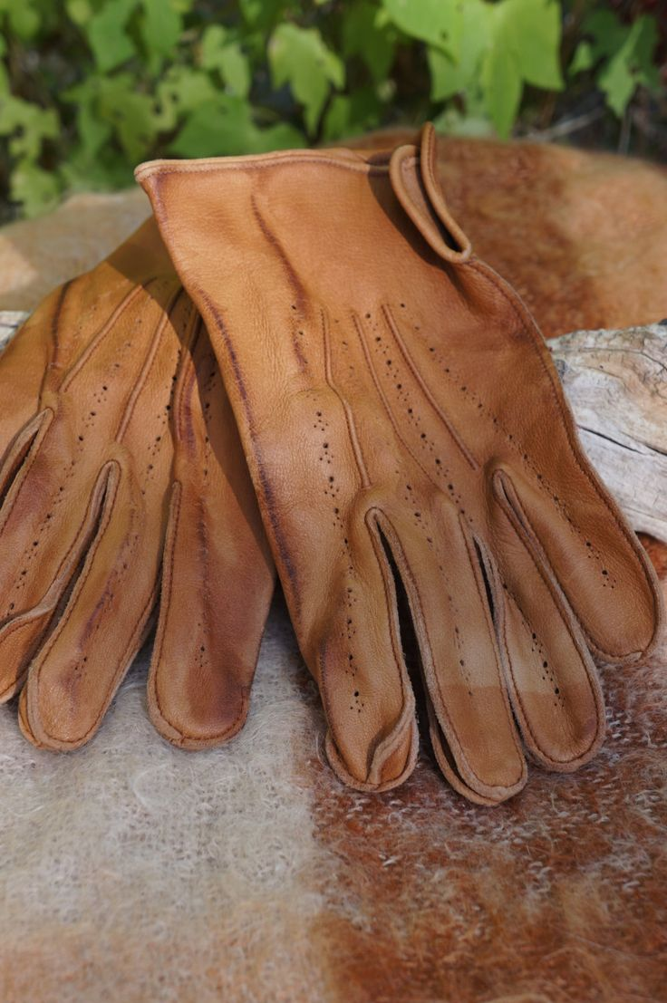 Shorty leather driving gloves fingerless - Vintage Mens Kid Leather Driving Gloves Boyce Lazarus Driving Gloves 40s 50s Mens Kid Leather Driving Gloves Antique Driving Glove Men 9