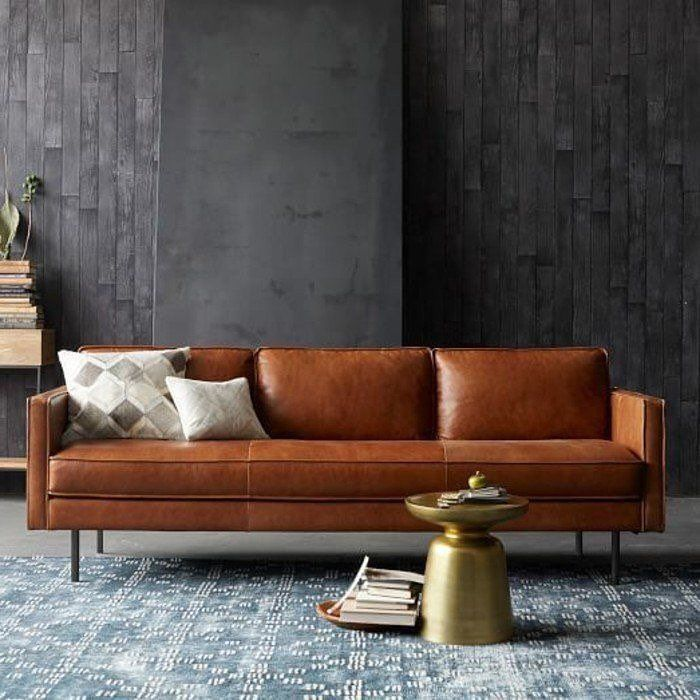 Ove Leather Grey Living Image Via Trendoma Sofas E Poltronas Sofa De Couro Decoracao