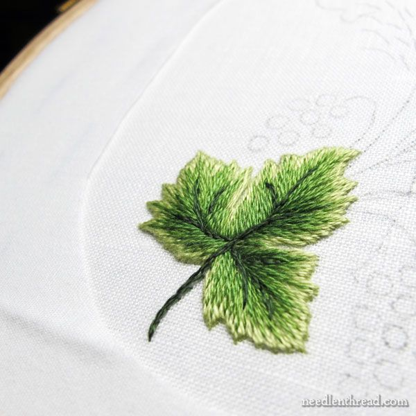 Embroidered book cover the embroidery long