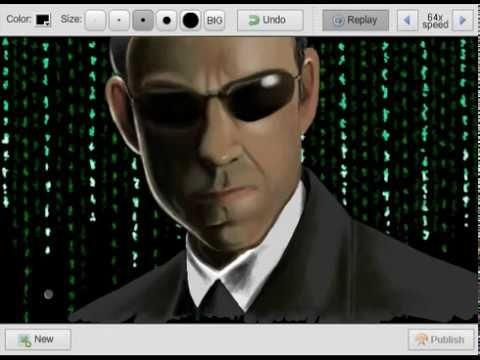 agent smith speedpaint draw matrix smith