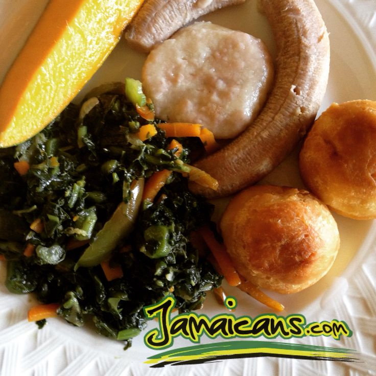 Anyone for Callaloo, boil banana, dumplings & Johnny Cakes morning for breakfast? Recipe here  - http://jamaicans.com/recipes-jamaican/recipes-fish/callaloosaltfish/ #breakfast #callaloo #johnnycakes #jamaicanfood #recipes #cooking #foodporn