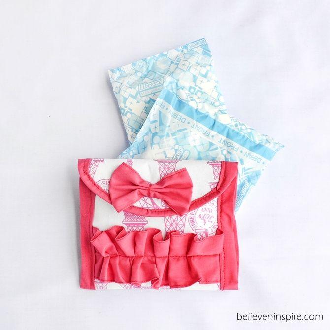 How to Make a Sanitary Napkin Pouch believeninspire.com
