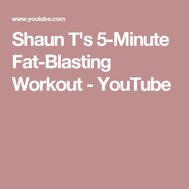 Shaun T's 5-Minute Fat-Blasting Workout - YouTube