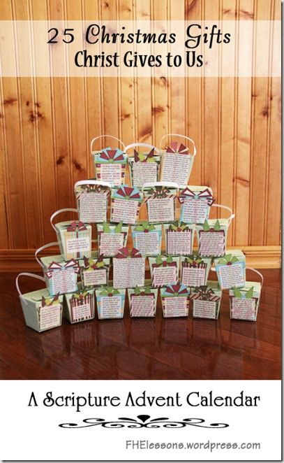 Advent Calendar Ideas Religious : Gifts christ gives to us days in advent calendar and