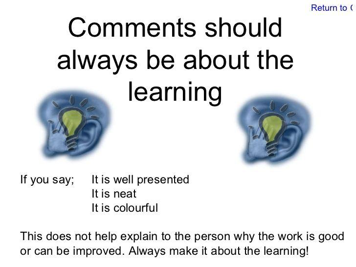 Peer And Self Assessment Guide