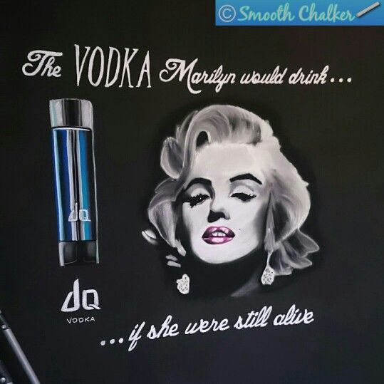 Marilyn Monroe vodka mural