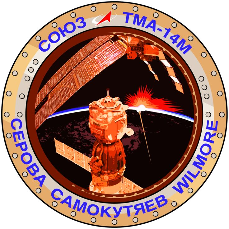 Soyuz TMA-14M was a 2014 flight to the International Space Station. It transported three members of the Expedition 41 crew to the International Space Station. TMA-14M is the 123rd flight of a Soyuz spacecraft, the first flight launching in 1967. The Soyuz remained docked to the space station for the Expedition 42 increment to serve as an emergency escape vehicle until undocking and landing as scheduled in March 2015.