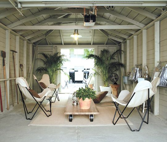 Tropical Getaway In The Garage. Garage Living SpaceGarage Turned Into ...