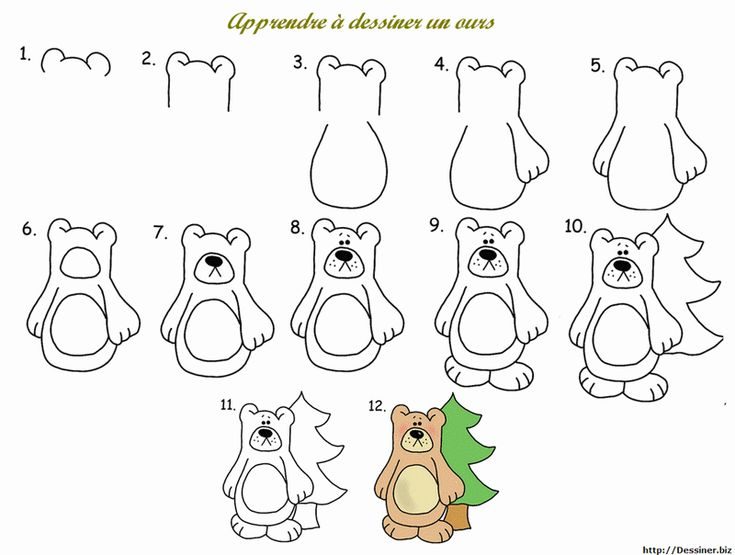 56 best stap voor stap tekenen images on pinterest how to draw drawing for kids and drawing ideas - Dessiner ours ...