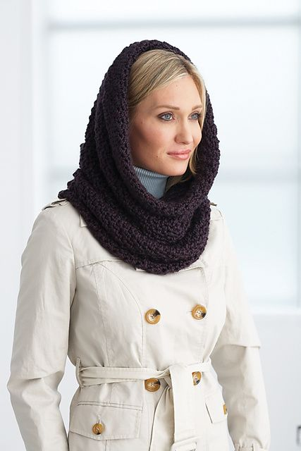 I have started this tonight using my scrap yarn.............. Ravelry: Hooded Cowl pattern by Bernat Design Studio