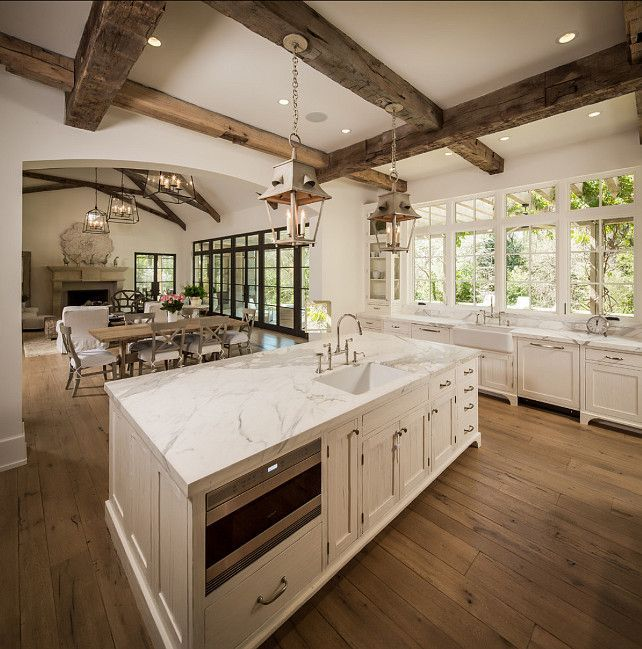Modern French Country: Kitchen Island. Beautiful Kitchen Island Design. # Kitchen #Island