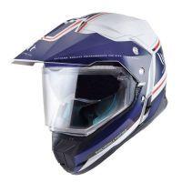 Κράνος Μοτοσυκλέτας MT Helmets Synchrony Duo Sport Vintage Άσπρο - Μπλε