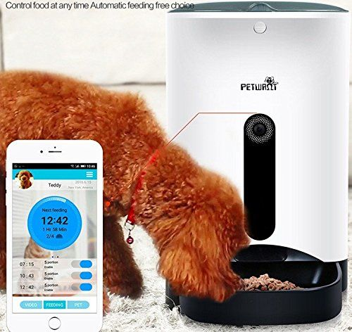 Homeself Smart Feeder,Automatic cat Feeder Food Dispenser for Dogs and Cats with 1 Mega Pixels HD Camera,Control with Iphone,Andriod or other smart devices => You can get additional details, click the image : Cat Collar, Harness and Leash