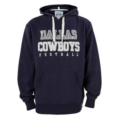 Mens Dallas Cowboys Navy Blue Russel Pullover Hoodie