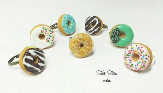 Donut ring  dollhouse miniature  mini food by SweetStoriesCreation