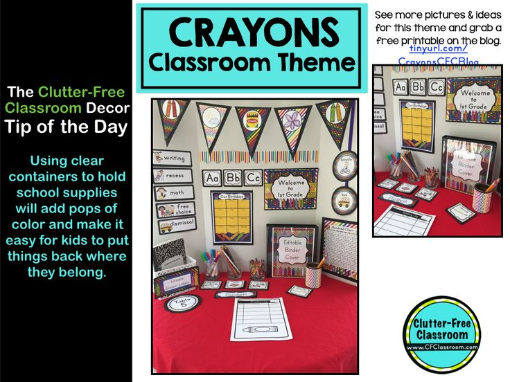 Classroom Decor And Supplies ~ Best crayon classroom theme ideas and decor images on
